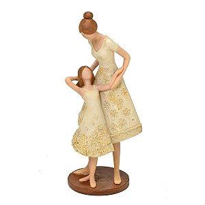 Estatueta Mãe c/ Filha Decorativa Mabruk