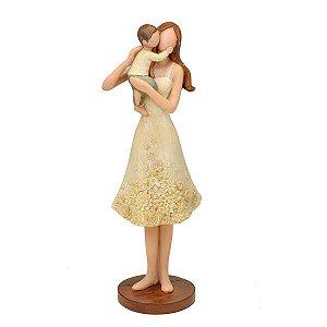 Estatueta Mãe c/ Filho Decorativo Mabruk