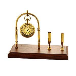 Relógio de Mesa Decorativo Dourado Rojemac