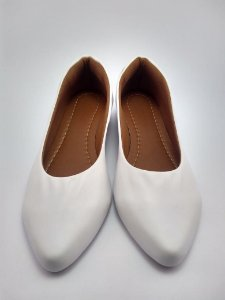 Sapatilha Feminina Bico Fino Branca