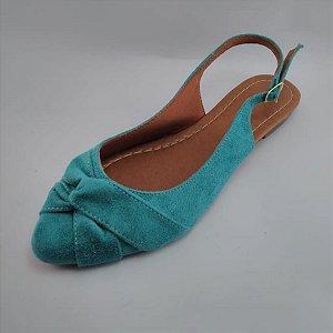 Sapatilha Aberta Menina Mulher Azul Tiffany