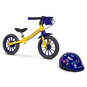 Bicicleta Equilibrio Balance Bike Show da Luna + Capacete Show da Luna