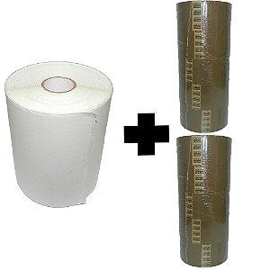 Etiqueta Termica 100mm x 150mm + 10 Fitas Adesivas Marrom