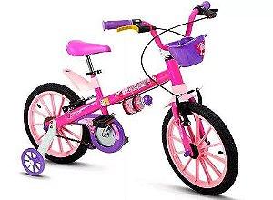 Bicicleta Aro 16 Top Girls Rosa e Lilás