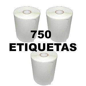 Kit 3 Rolos De Etiqueta Térmica mr693