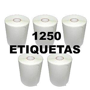 Kit 5 Rolos De Etiqueta Térmica mr693