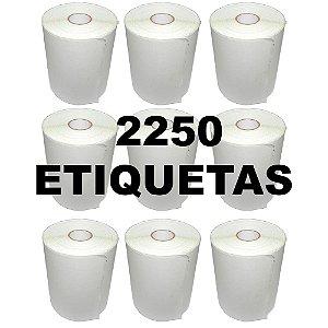 Kit 9 Rolos De Etiqueta Térmica mr693