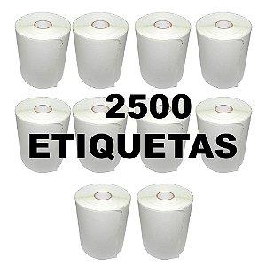 Kit 10 Rolos De Etiqueta Térmica