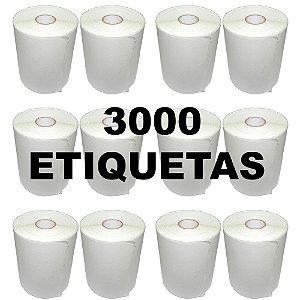 Kit 12 Rolos De Etiqueta Térmica