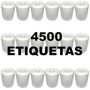 Kit 18 Rolos De Etiqueta Térmica