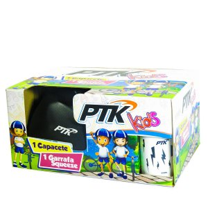 Kit Capacete KIDS Carbono com Regulador 46 a 56 CR + Squeeze 250ml