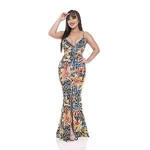 Vestidos longo - Suplex Digital - floral