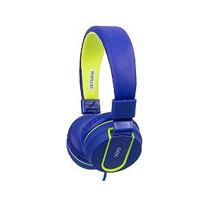 Headset Oex Fluor Hs107 Teen Azul Com Microfone
