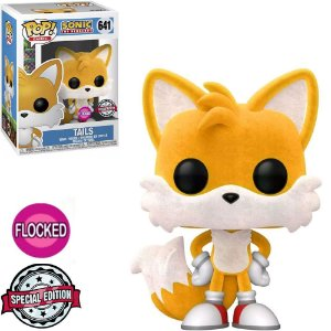 Funko Pop Sonic 30Th Sonic Tails Flocked 641 Exclusivo