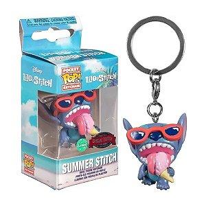 Chaveiro Funko Pop Keychain Disney Lilo Stitch Summer Stitch
