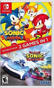 Jogo Sonic Mania + Team Sonic Racing Double Pack Nintendo Switch