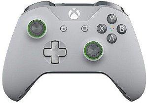 Controle sem Fio Xbox One Edição Especial Cinza e Verde
