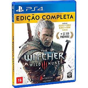 Jogo The Witcher 3 Wild Hunt Edição Completa - PS4