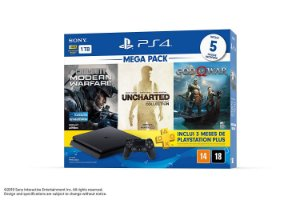 Console PS4 1TB Bundle 7 - Call of Duty: Modern Warfare, Uncharted: Collection, God of War