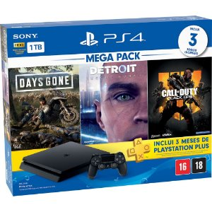 Console Playstation 4 Slim 1TB Hits Bundle (Call Of Duty BO4)