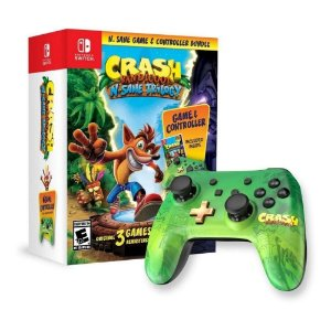 Controle Pro Para Nintendo Switch Com Jogo Crash Bandicoot N'Sane Trilogy