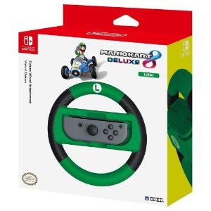 Volante De Corrida Mario Kart Hori Para Nintendo Switch - Luigi (Nsw-055u)