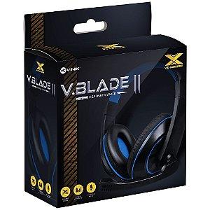 Headset VX Gaming V Blade II - Preto com Azul