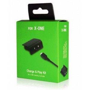 Tampa com bateria + Cabo (Play And Charge) Xbox One - Preto
