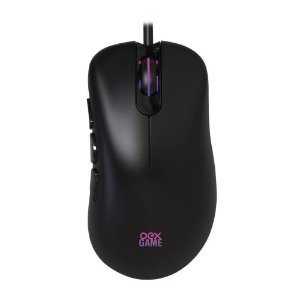 Mouse Gamer Óptico Preto OEX LED RGB Adrik 6400dpi USB