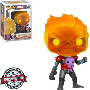 Funko Pop! Marvel Exclusive - Cosmic Ghost Rider (With Baby Thanos) #518