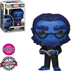 Funko Pop - Marvel X-Men 20Th - Beast Flocked Exclusivo 643