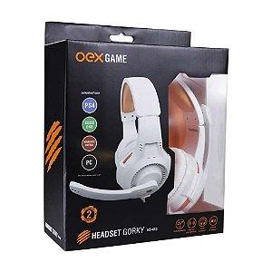 Headset Gamer com Microfone Gorky Branco HS413 - Oex