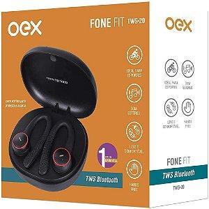 Fone de Ouvido Bluetooth Esportivo Fit  TWS20 Preto - Oex