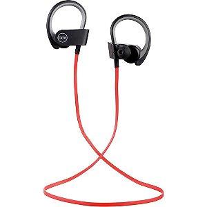 Fone de Ouvido Headset Bluetooth Esportivo Hs303 Preto e Vermelho- Oex