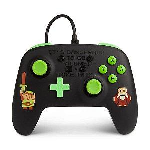 Controle Nintendo Switch Com Fio Zelda Retro PowerA