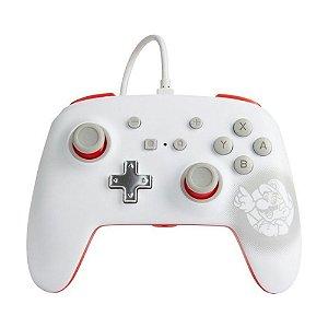 Controle Nintendo Switch Com Fio Super Mario White PowerA