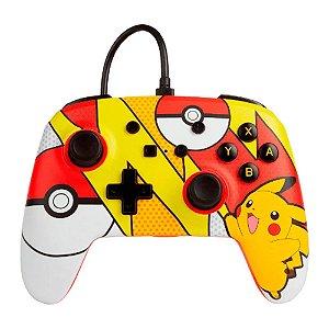 Controle Nintendo Switch Com Fio Pikachu Pop Art PowerA