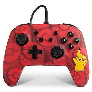 Controle Nintendo Switch Com Fio Pikachu Vermelho PowerA