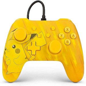 Controle Nintendo Switch Com Fio Static Pikachu PowerA