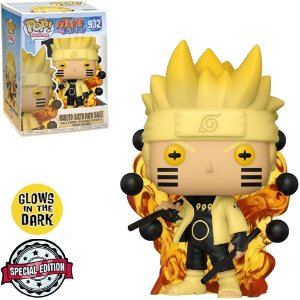 Funko Pop Naruto Shippuden Exclusive - Naruto Six Path Sage 932 Glow