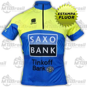 CAMISA CICLISMO SAXO TINKOFF FLUOR