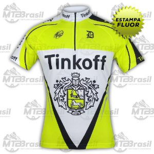 CAMISA CICLISMO TINKOFF FLUOR