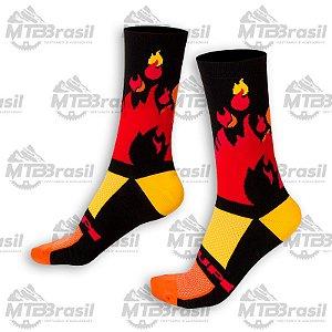 MEIA CICLISMO HUPI BIKES FIRE
