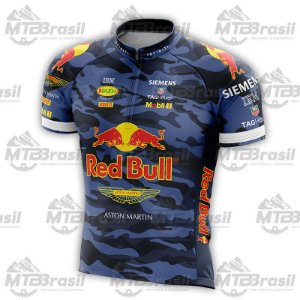 CAMISA CICLISMO RED BULL CAMO BLUE