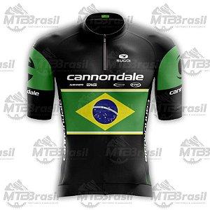 CAMISA CICLISMO CANNONDALE BRASIL BLACK