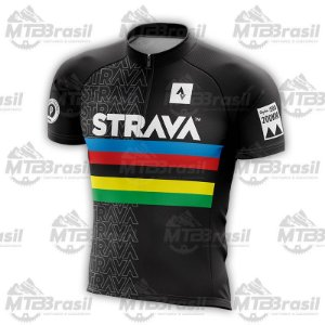 CAMISA CICLISMO STRAVA WORLD CHAMPION BLACK