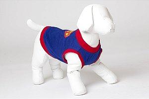 Roupinha para cachorro Petisco - Camiseta de Malha Super Homem