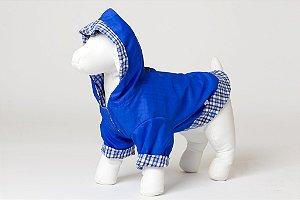 Roupinha para cachorro Petisco - Capa de Chuva Azul
