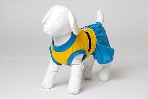 Roupinha para Cachorro Petisco - Vestido de Malha Minions Fêmea