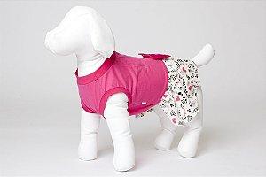 Roupinha para Cachorro Petisco - Vestidinho Fechado Malha Casual